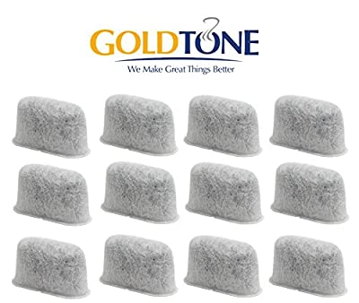GoldTone 12-Pack Replacement Charcoal Water Filter for Cuisinart Coffee Machines Maker