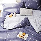 Blue and Purple Duvet Cover Softta Space Constellation Bedding Set Star Map Universe Galaxy Duvet Cover Twin 3 pcs 100% Cotton Gray Blue Purple for Teen Boys Girls Men Women