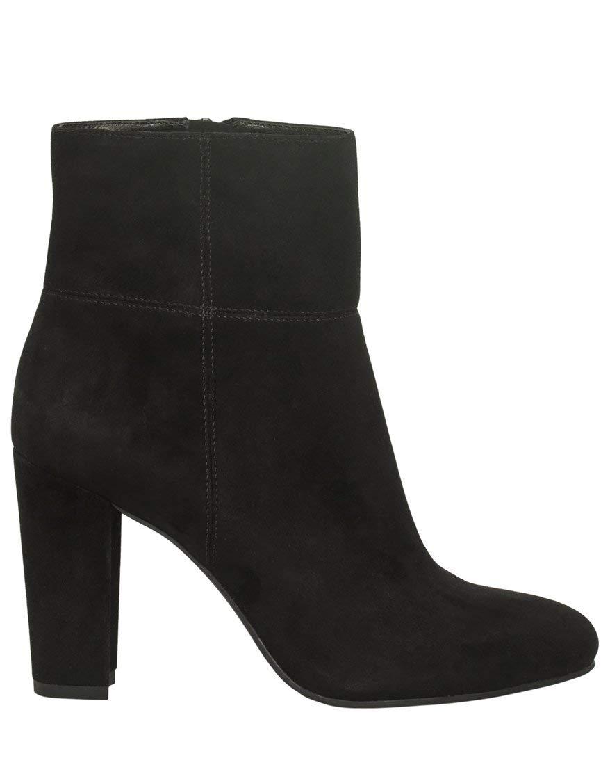 LE CHÂTEAU Women's Suede Block Heel Boot,7,Black