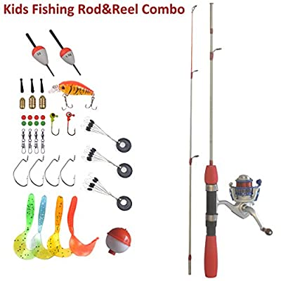 Kids Fishing Rod and Reel Combo Easy To Use All Accessories Included Ready To Go