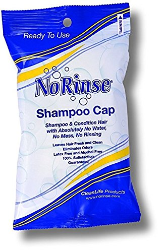 No Rinse Shampoo Cap, Microwaveable Latex Free and Odorless (Pack of (Stella Cleanser)