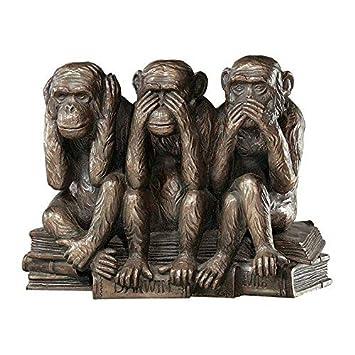 Nichts Hören Bronzefigur 3 Affen Nichts Sehen Nichts Sagen