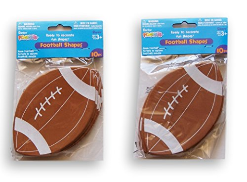 Foamies Footballs -2 Packs of 10 - 5.5