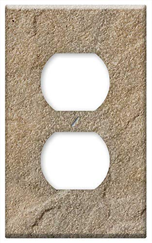 Switch Plate Outlet Cover - Sand Stone Steinplatte Brown Construction Material