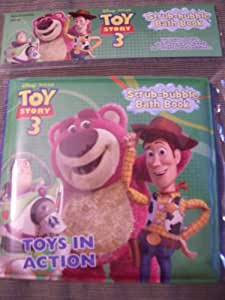 Toy Story 3 Toys in Action (Scrub-bubble Bath Book)