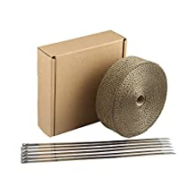 HM&FC Titanium Exhaust Wrap Roll 50 Ft(L) * 2 In (W)*0.06 In(T)