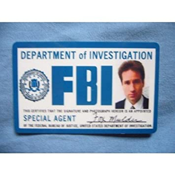 Card ca Badge Template Products Props Office X Amazon Id Mulder Files Fox Fbi