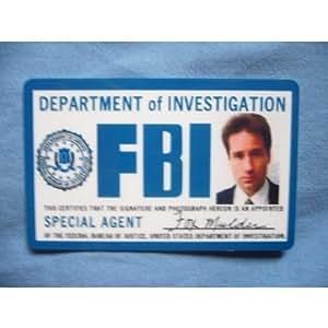 fbi id card x files fox mulder fbi badge. Black Bedroom Furniture Sets. Home Design Ideas