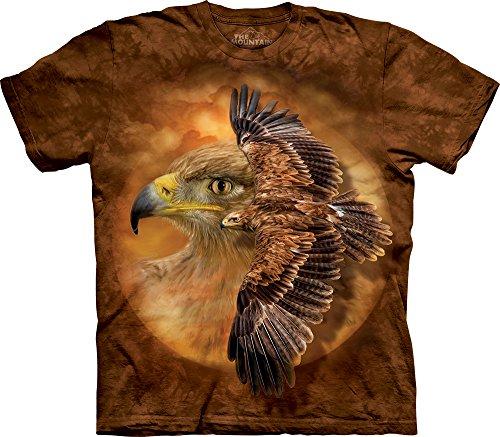 The Mountain Men's Tawny Eagle Spirit T-Shirt, Brown, Medium (Tawny Eagle)