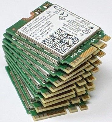 Intel 3165 3165NGW 3165AC Dual Band Wireless AC + Bluetooth4.0 Mini NGFF WiFi Card 802.11AC 3165 (10 PACK) by Bulk Pack