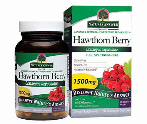 Nature's Answer Hawthorn Berry, Vegetarian Capsules, 90-Count