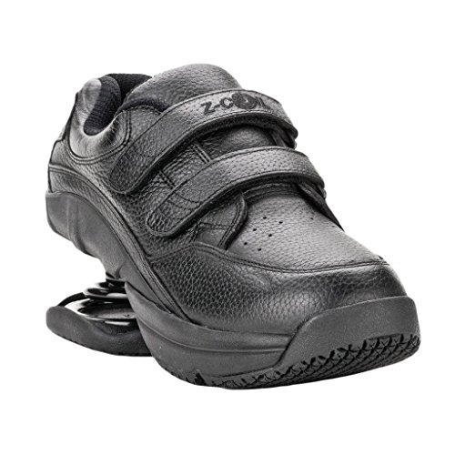Z-CoiL-Pain-Relief-Footwear-Mens-Legend-Slip-Resistant-Velcro-Black-Leather-Tennis-Shoe