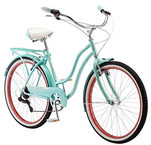 Schwinn Perla Cruiser Women's Bicycle, 26 inch wheel size, Blue bike (Bmx Linear Pull)