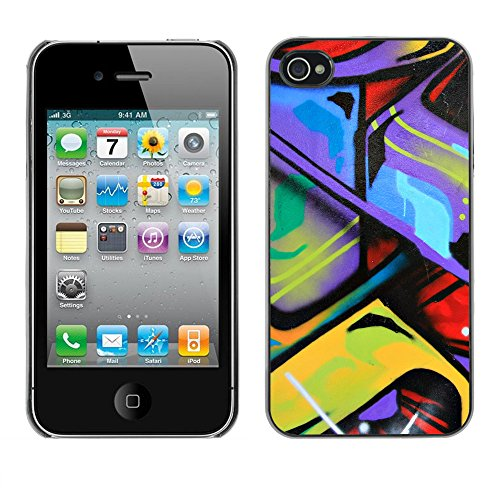 Premio Sottile Slim Cassa Custodia Case Cover Shell // V00002331 Graffiti // Apple iPhone 4 4S 4G