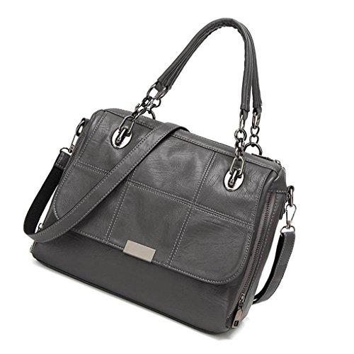 Back Bags Girl shoulder Mengonee Messenger Zipper Grey Crossbody Bags Color PU Single Solid Women Handbags F0xUwqnP