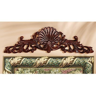 Design Toscano Rococo Architectural Wooden Wall Pediment by Design Toscano