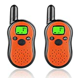 Portable Walkie Talkies 3 Mile Range 22 Channel 2 Way Radios Best Toys for Kids Age 3-12 Outoor Playing Hiking Camping Games