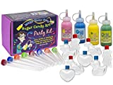 Make Your Own Sugar Candy Art Party Kit (Yellow, Aqua, Pink & Green, 4 Color Kit)