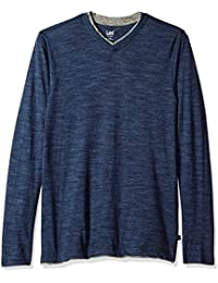 Men's Tipping Long Sleeve Vneck Neck Shirt
