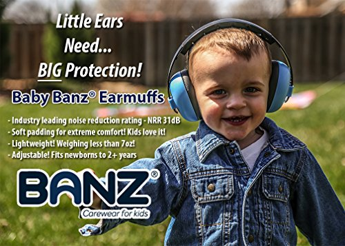 Baby Banz Earmuffs Infant Hearing Protection – Ages 0-2+ Years – THE BEST EARMUFFS FOR BABIES & TODDLERS – Industry Leading Noise Reduction Rating – Soft & Comfortable – Baby Ear Protection by BANZ (Image #3)
