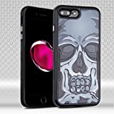Apple-iPhone-7-Plus-55-Case-Fincibo-TM-Hybrid-TUFF-Contempo-Dual-Layer-Hard-Silicone-Protector-Cover-Skull-Natural-Black-Stylus-Pen