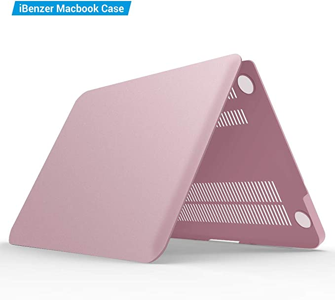 IBENZER MacBook Pro 13 Inch case A1278 Release 2012-2008 Plastic Hard Shell Case with Keyboard Cover for Apple Old Version Mac Pro 13 with CD-ROM CA-P13MPK Rose Gold