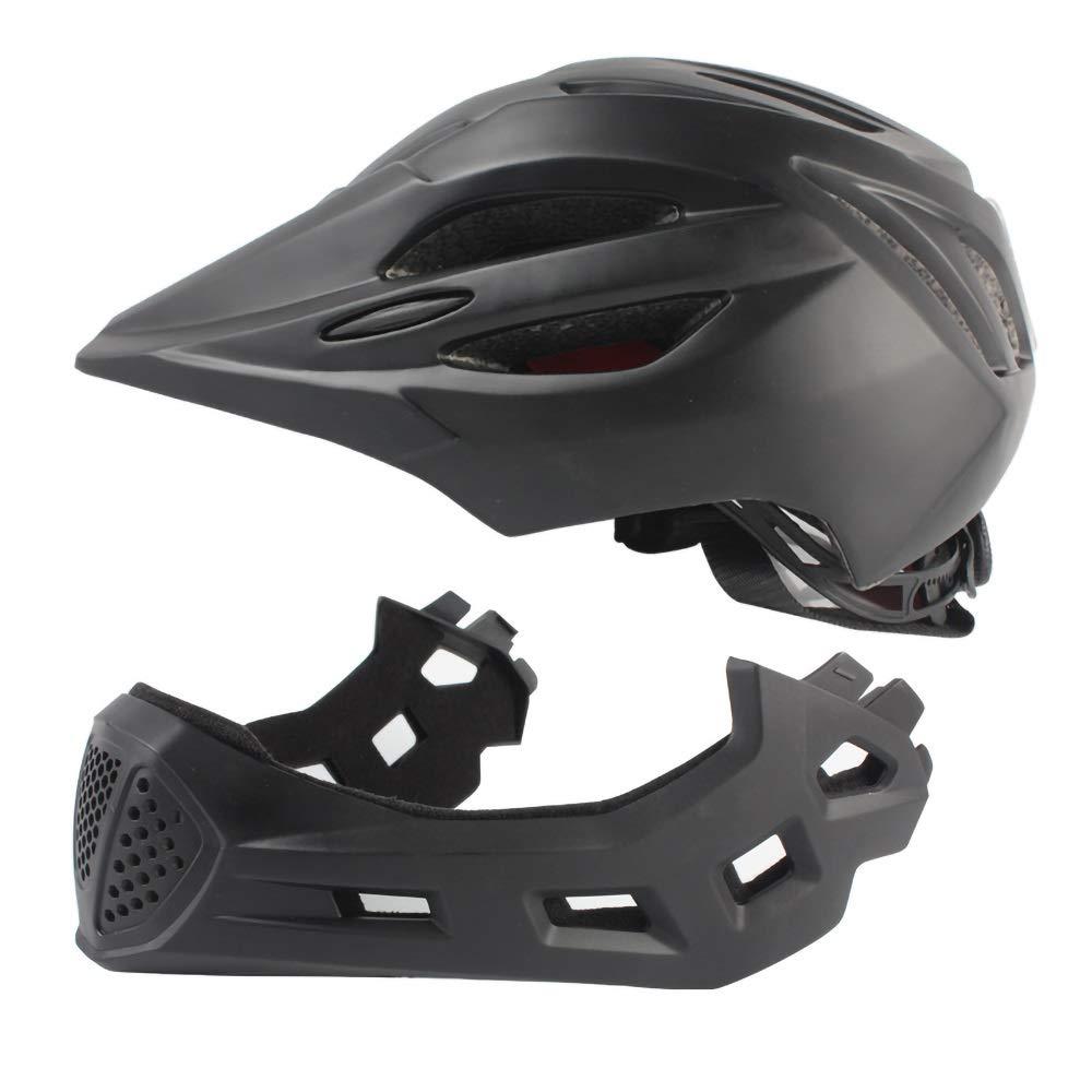 子供用自転車用ヘルメット キッズヘルメット、キッズセーフティバイクヘルメットサイクリングスケートスクーター(男の子/男の子用)(4852cm用) (Color : Black)   B07Q1KLVD8