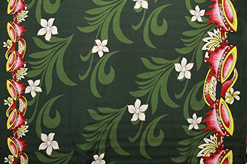 60' Bowl (Samoan kava bowl plumeria flower print fabric 60'' inches sold by the yard)