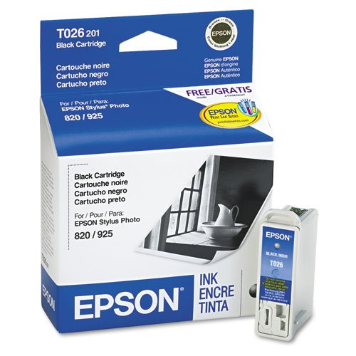 Epson Inkjet Cartridge, 500 Page Yield, Black