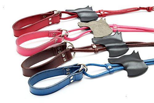 Leash & Collar Combo - Genuine Leather & Stainless Steel – Hand (Handcrafted Hemp Necklace)