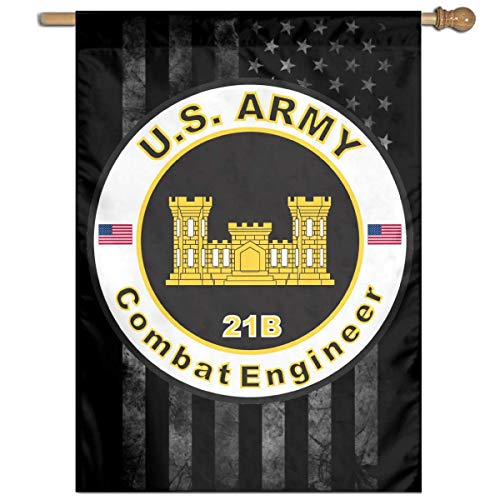 YhouqukehTshirt Army MOS 21B Combat Engineer Yard Banner Flags Springtime 27
