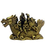 Feng Shui Eight Immortals In the Dragon Boat Fortune Home Decor Figurine