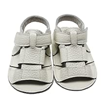 Mejale Baby Soft Soled Leather Moccasins Anti-slip Infant Walker Sandals