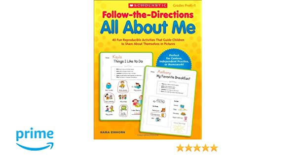 Follow-the-Directions All About Me: 40 Fun Reproducible Activities ...