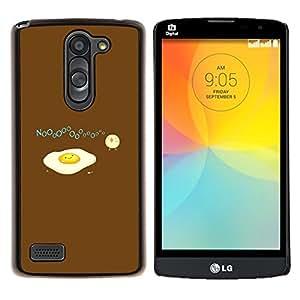 "Be-Star Único Patrón Plástico Duro Fundas Cover Cubre Hard Case Cover Para LG L Prime / L Prime Dual Chip D337 ( Divertido triste Huevo Tortilla"" )"