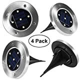 Solar Garden Light, YUNLIGHTS 5 LED Solar Ground Lights Waterproof Patio Light with Dark Sensing for Lawn Pathway Yard Driveway Walkway Pool Area, White (4 Pack)