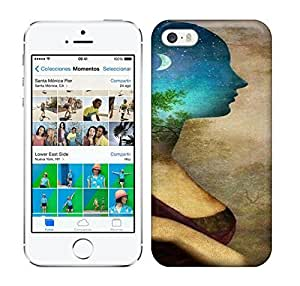 Best Power(Tm) HD Colorful Painted Watercolor The Side Of The Woman On The Moonlight Of The Forest Hard For SamSung Galaxy S5 Phone Case Cover