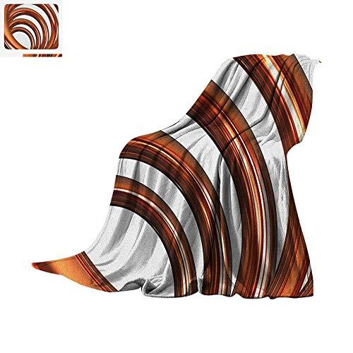 (Abstract Lightweight Blanket Helix Coil Curved Spiral Pipe Swirled Shape on White Backdrop Print Velvet Plush Throw Blanket 90
