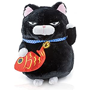 glü ̈ ckskatze Negro con Yen faros Peluche Gato – Mange Anime Peluche y de peluche