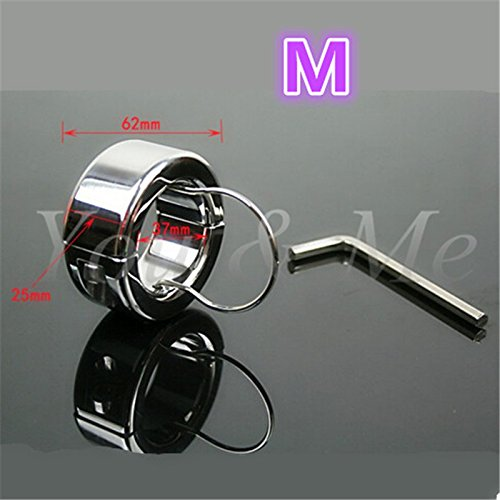FANGMING 980g Stainless Steel Metal Screw Locking Penis Rings,Scrotum Testicle Lock,Cock Ring,Cock Clamp,Adult Game,Sex Toys For Men by FANGMING