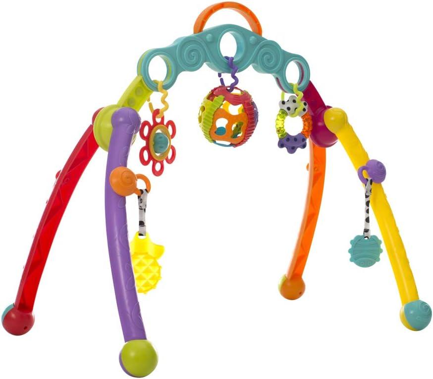 Playgro Arco de Actividades, Con Juguetes Desmontables, Desde el Nacimiento, Junyju Fold and Go Activitiy Playgym, Multicolor, 40173