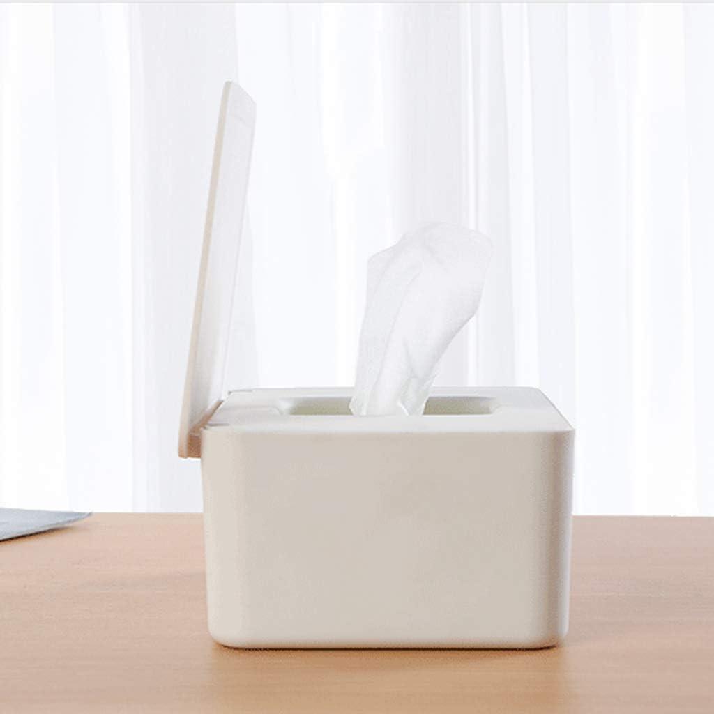 RROVE Caja de Almacenamiento de pa/ñuelos con Soporte para dispensador de toallitas h/úmedas Tapa para Tiendas dom/ésticas