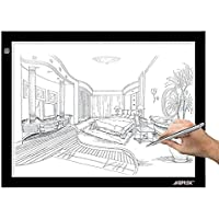 AGPtek A4 Plus Portable USB LED Artcraft Tracing Light Box Ultra-thin Light Pad Stepless brightness control For Artists, Drawing, Sketching, Animation, X-ray Viewing, Sewing, Tattoo, Quilting - White