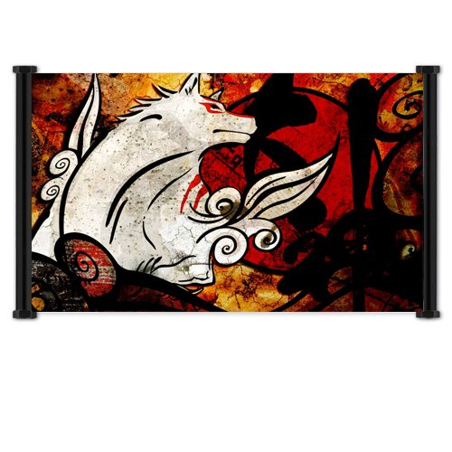 Okami Videogame Fabric Wall Scroll Poster  Inches