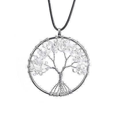Amazon Com Luaida Tree Of Life Necklace 7 Chakra Necklace With