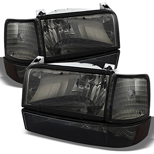 For Ford Bronco F150 F250 F350 OE Replacement Smoke Headlights Corner Signal Left/Right Lamps Set -