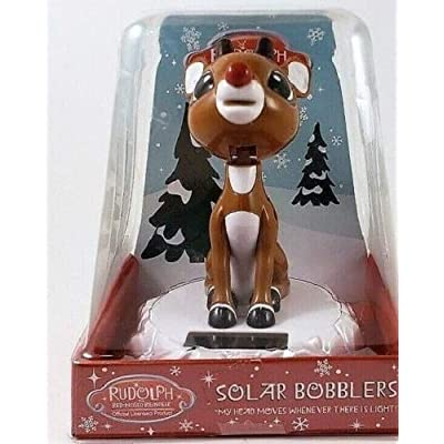 5Star-TD 50th Anniversary Rudolph The Red-Nosed Reindeer Solar Bobblehead Bobber: Toys & Games