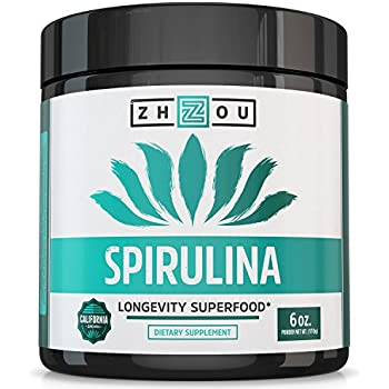 Non-GMO Spirulina Powder - Sustainably Grown in California - Highest Quality Spirulina on Earth - 100% Vegetarian, Gluten Free & Non-Irradiated - Blue Green Algae Perfect for Smoothies, Juices & More