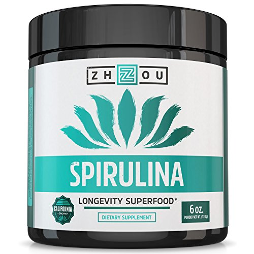 Non-GMO Spirulina Powder - Sustainably Grown in California - Highest Quality Spirulina on Earth - 100% Vegetarian, Gluten Free & Non-Irradiated - Blue Green Algae Perfect for Smoothies, Juices & More (Beta Carotene Calcium)