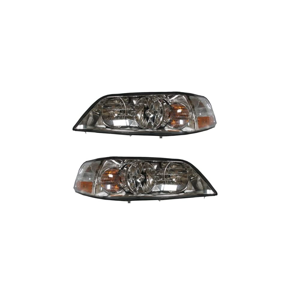 2003 2004 Lincoln Town Car HID Headlight Headlamp Composite (Xenon Type with Ballast) Front Head Light Lamp Set Pair Left Driver And Right Passenger Side (03 04)